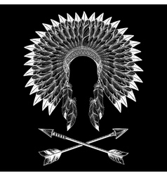 Native american indian war bonnet vector image vector image