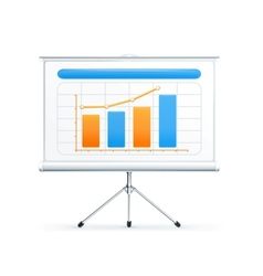 Projection screen vector image vector image
