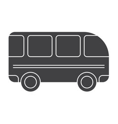 school bus silhouette vector image