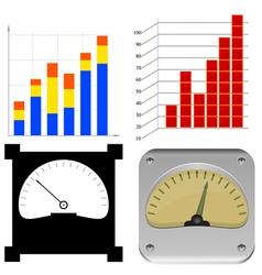 set charts vector image vector image