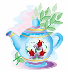 teapot with colors vector image vector image