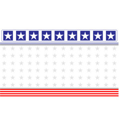 abstract american flag banner background vector image