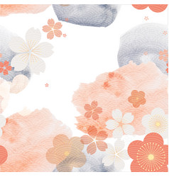 abstract seamless background with watercolor vector image