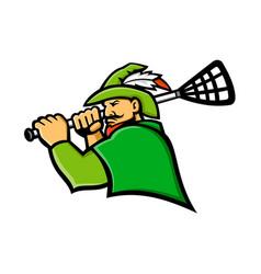 Archer lacrosse sport mascot vector