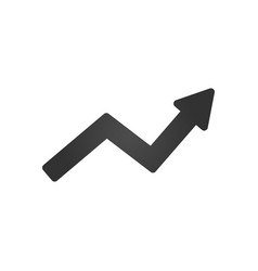 arrow indicates the direction icon isolated on vector image