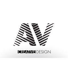 Av a v lines letter design with creative elegant vector