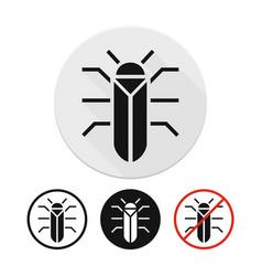 beetle icon vector image