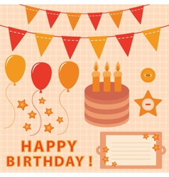birthday elements set vector image vector image