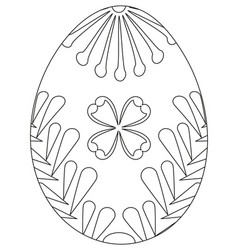 Black and white easter egg poster vector