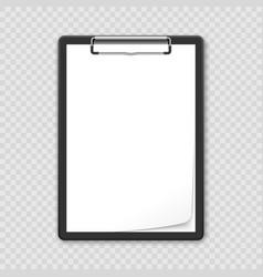 black clipboard vector image