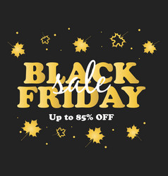 black friday sale poster shoping fashion vector image