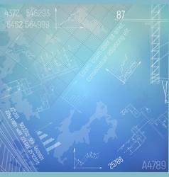 Blueprints with boiler room engineering vector