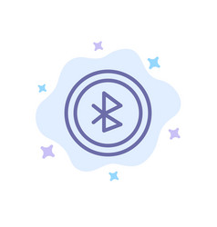 Bluetooth ui user interface blue icon on abstract vector