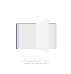 book flat icons 122 vector image