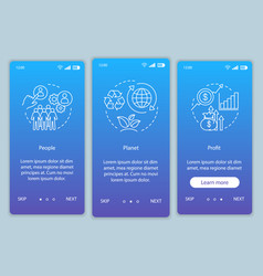 Business conception onboarding mobile app page vector
