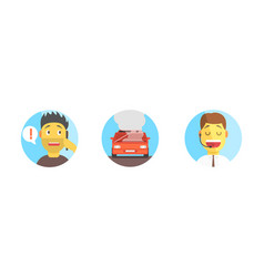 car assistance help call operator support phone vector image