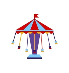 Carousel With Sits On Chains vector