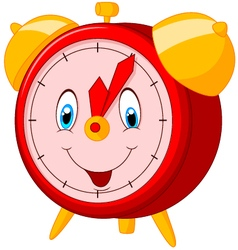 Cartoon happy clock vector