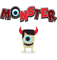 Cartoon monster design vector