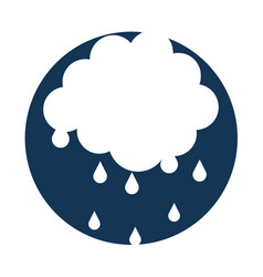 cloud with rain drops vector image
