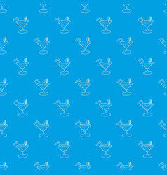 cocktail pattern seamless blue vector image