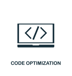 code optimization icon symbol creative sign from vector image