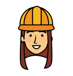 constructor woman head avatar character vector image