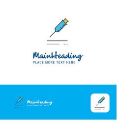 creative injection logo design flat color logo vector image
