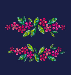 Decorative leave and flower design vector