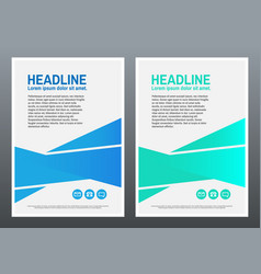 Design template blue and green geometric vector