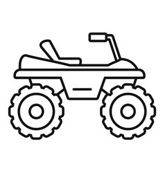 dirtbike icon outline style vector image