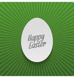 Easter festive Banner Realistic paper Egg vector image