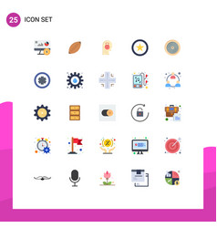 Editable line pack 25 simple flat colors vector