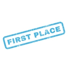 First Place Rubber Stamp vector