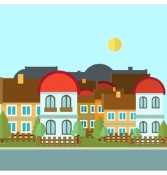Flat design urban landscape day vector