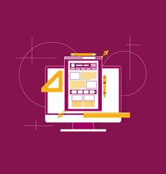 Flat of web design and development concepts vector
