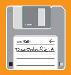 Floppy disc illustration vector
