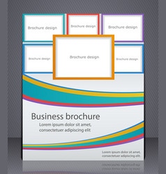 flyer or brochure in strip with tabs for photos vector image