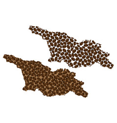 Georgia country - map of coffee bean vector