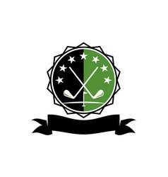 golf club academy vector image