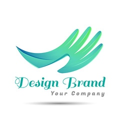 Hand logo Organic Life symbol concept template vector image