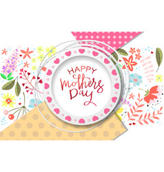 happy mothers day handdrawn card vector image
