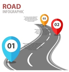 Infographic with a road on white vector