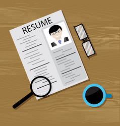 job search and head hunting vector image