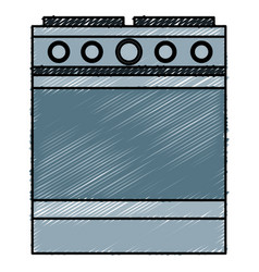 Kitchen oven isolated icon vector
