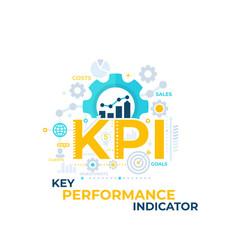Kpi key performance indicator vector