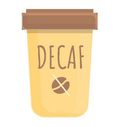 Latte decaf icon cartoon style vector