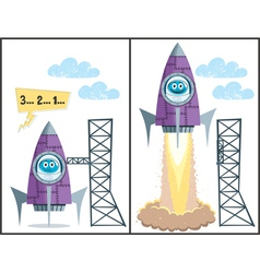Launch vector image
