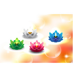 Lotus candle 01 vector