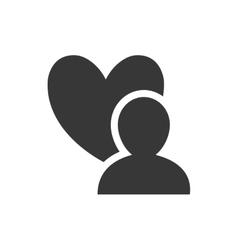 man social network person media icon vector image
